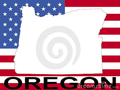 Oregon on flag