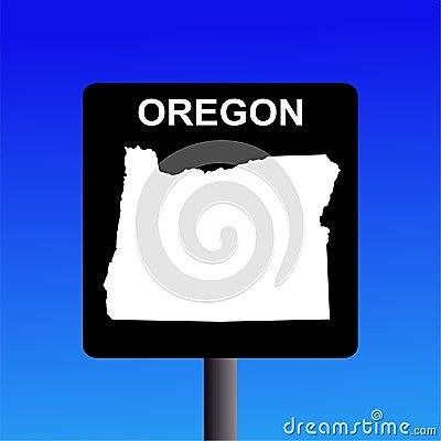 Oregon highway sign