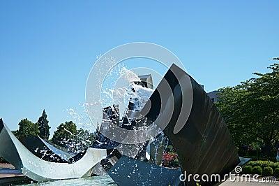 Oregon State Capital Fountain