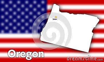 Oregon state contour