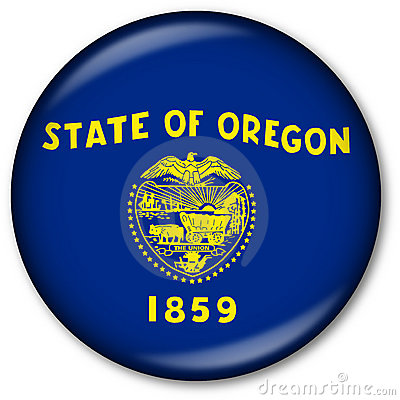 Oregon State Flag Button