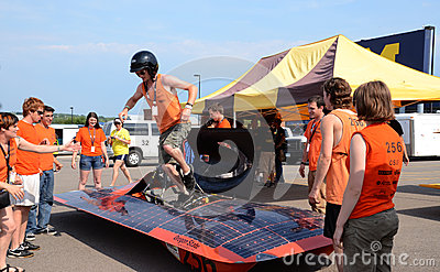 Oregon State University s solar car team Editorial Stock Image