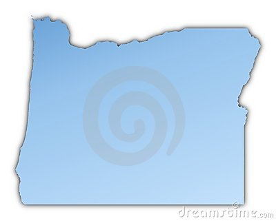 Oregon(USA) map
