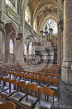 Free Organ Instrument Of Gothic Church Royalty Free Stock Photography - 38836527