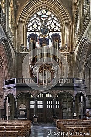 Free Organ Instrument Of Gothic Church Royalty Free Stock Photo - 38836605