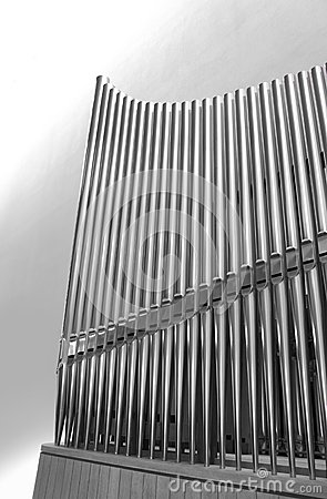 Organ pipes vertical