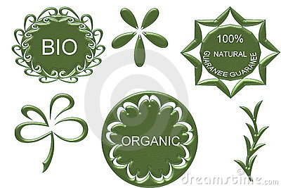 Organic bio natural icon