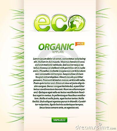 Organic eco template