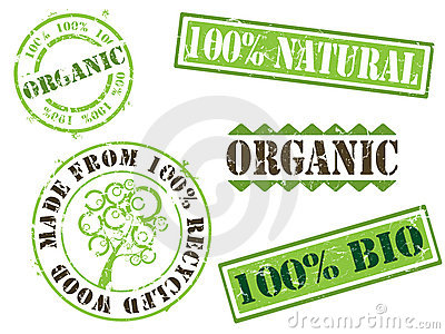 Organic and ecology stamps
