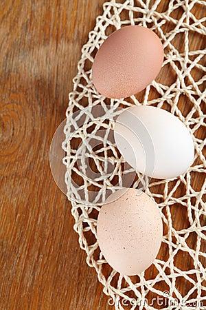 Organic eggs border
