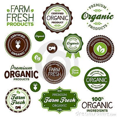 Free Organic Food Labels Stock Images - 23268604