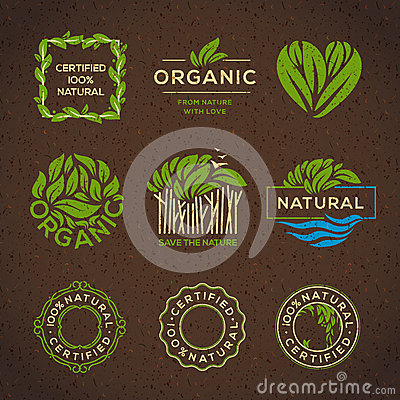 Free Organic Food Labels And Elements Royalty Free Stock Photos - 50728308