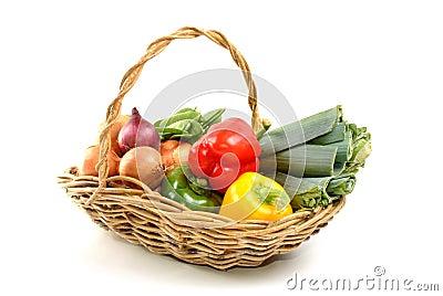 organic fresh vegetable in a basket