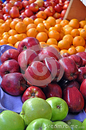 Organic Fruit Cart - Apples & Oranges