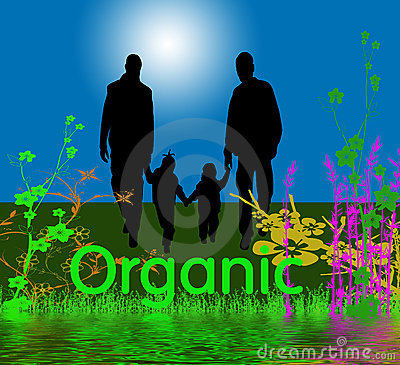 Organic Graphic with Family