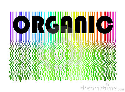 Organic label and background