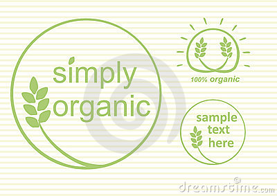 Organic Labels Vector