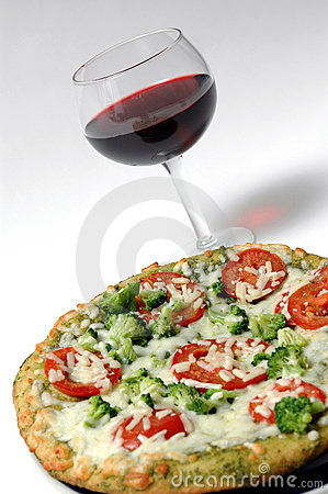 Organic pizza wine