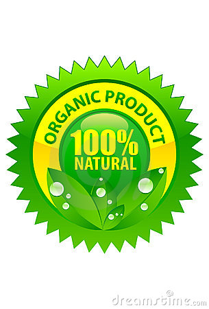 Organic product label 100  natural