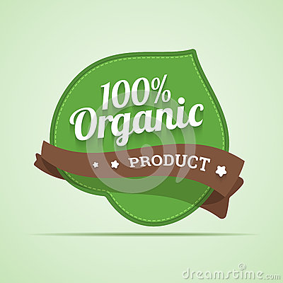 Organic product label.