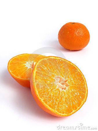 Organic Tangerine cut in half