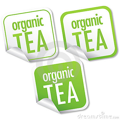 Organic tea stickers