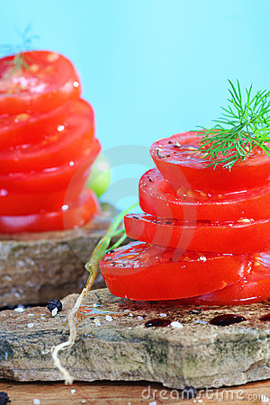 Organic tomatoe salad