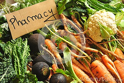 Real, organic food as our pharmacy, medicine Stock Photo