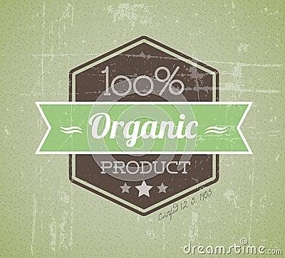 Organic vector retro vintage grunge label