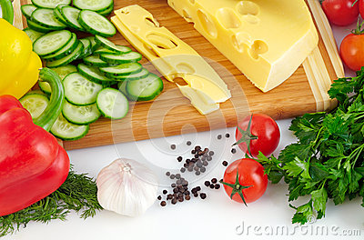 Organic vegetable background