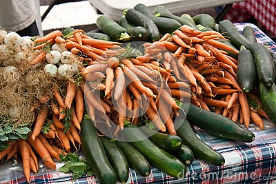 Organic vegetables at the farmers market