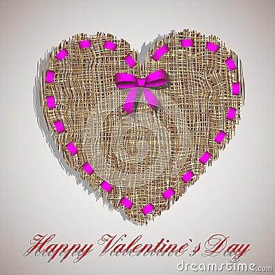 Organic weave heart