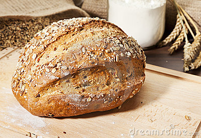 Organic whole grain bread