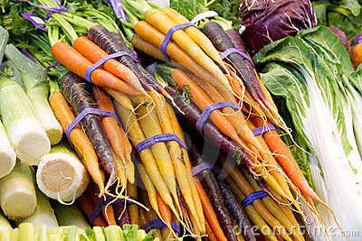Organically Grown Carrots and Vegetable