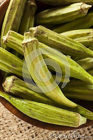 Organicznie Zielony Okra warzywo