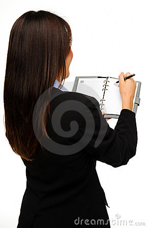 Organised businesswoman
