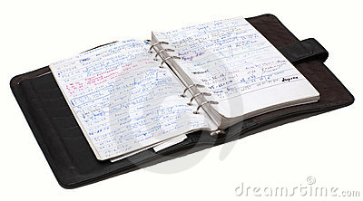 Organiser full of notes