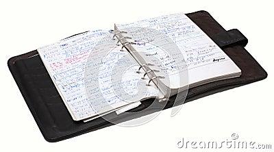 Organiser full of notes