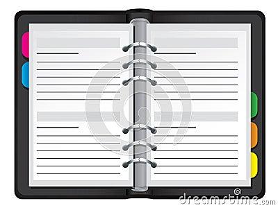 Organiser vector illustration