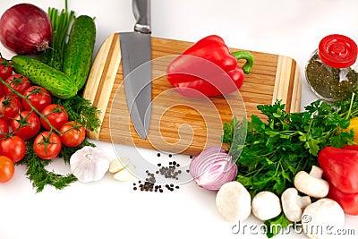 Organisk grönsakbakgrund