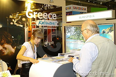 Organizaci grecka turystyka tt Warsaw Fotografia Editorial