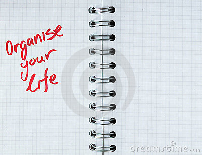 Organize your life - notebook note