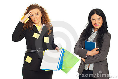 Organized and disorganized business women