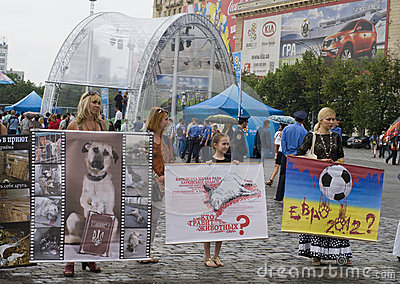 Organized rally protect of animals Editorial Stock Photo
