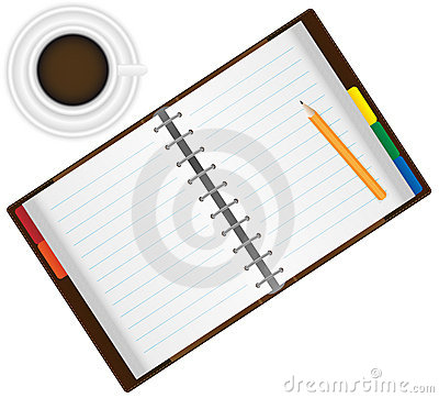 Organizer and Coffee