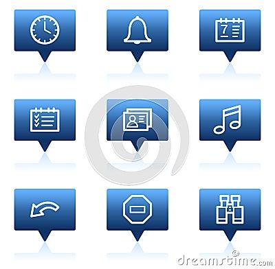 Free Organizer Web Icons, Blue Speech Bubbles Series Stock Photography - 11819472