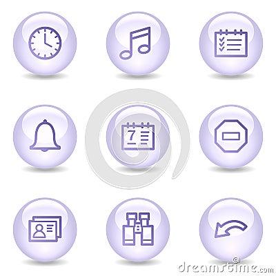 Organizer web icons, glossy pearl series