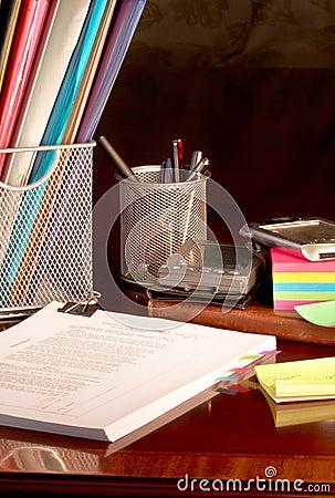 Organizing the desk