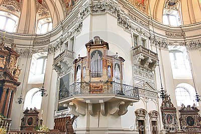 Organs in the church in Salzburg
