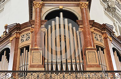 Organs in the church in Salzburg